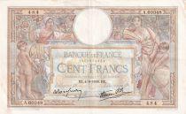 France 100 Francs Luc Olivier Merson - Grands Cartouches - 04-08-1938 - Série A.60348 - TTB+