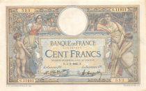 France 100 Francs Luc Olivier Merson - Grands Cartouches - 05-03-1925 Série S.11931 - PTTB