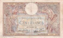 France 100 Francs Luc Olivier Merson - Grands Cartouches - 09-12-1937 - Série Z.56166 - TB+