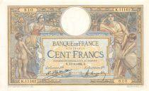 France 100 Francs Luc Olivier Merson - Grands Cartouches - 11-09-1924 Série K.11162 - SUP
