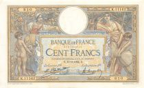 France 100 Francs Luc Olivier Merson - Grands Cartouches - 11-09-1924 Série K.11162 - SUP