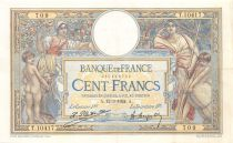 France 100 Francs Luc Olivier Merson - Grands Cartouches - 12-03-1924 Série T.10417 - PSUP