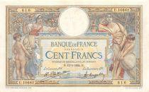 France 100 Francs Luc Olivier Merson - Grands Cartouches - 12-05-1924 Série U.10662 - TTB