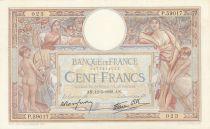 France 100 Francs Luc Olivier Merson - Grands Cartouches - 12-05-1938 Série P.59017