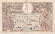 France 100 Francs Luc Olivier Merson - Grands Cartouches - 13-01-1938 - Série C.57140 - TB+