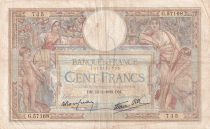 France 100 Francs Luc Olivier Merson - Grands Cartouches - 13-01-1938 - Série G.57168 - TB