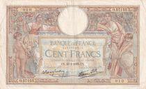France 100 Francs Luc Olivier Merson - Grands Cartouches - 13-01-1938 - Série O.57155 - TTB