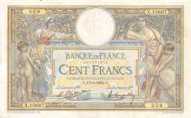 France 100 Francs Luc Olivier Merson - Grands Cartouches - 13-05-1924 Série X.10667 - TTB