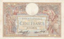 France 100 Francs Luc Olivier Merson - Grands Cartouches - 14-05-1936 Série G.51312