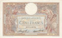 France 100 Francs Luc Olivier Merson - Grands Cartouches - 15-04-1937 Série X.53588