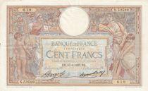 France 100 Francs Luc Olivier Merson - Grands Cartouches - 15-04-1937 Série X.53588