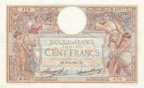 France 100 Francs Luc Olivier Merson - Grands Cartouches - 16-08-1934 Série M.45577