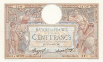 France 100 Francs Luc Olivier Merson - Grands Cartouches - 17-01-1935 Série J.47307