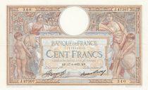 France 100 Francs Luc Olivier Merson - Grands Cartouches - 17-01-1935 Série J.47307
