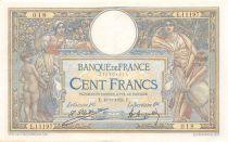 France 100 Francs Luc Olivier Merson - Grands Cartouches - 19-09-1924 Série E.11197 - SUP