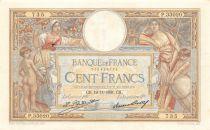 France 100 Francs Luc Olivier Merson - Grands Cartouches - 19-11-1931 Série P.33020 - TTB