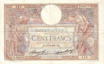 France 100 Francs Luc Olivier Merson - Grands Cartouches - 1937