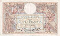 France 100 Francs Luc Olivier Merson - Grands Cartouches - 20-10-1938 - Série F.61072 - TTB