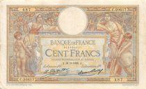 France 100 Francs Luc Olivier Merson - Grands Cartouches - 21-02-1928 Série C.20617 - TTB