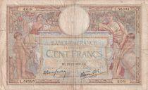 France 100 Francs Luc Olivier Merson - Grands Cartouches - 23-12-1937 - Série L.56393 - TB