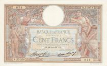 France 100 Francs Luc Olivier Merson - Grands Cartouches - 24-06-1937 Série N.55058