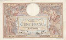 France 100 Francs Luc Olivier Merson - Grands Cartouches - 26-01-1939 Série M.63583