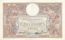 France 100 Francs Luc Olivier Merson - Grands Cartouches - 26-01-1939 Série Z.63707