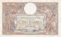 France 100 Francs Luc Olivier Merson - Grands Cartouches - 27-01-1938 - Série Y.57307 - TTB