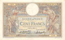 France 100 Francs Luc Olivier Merson - Grands Cartouches - 27-04-1925 Série H.12172-184 - TTB+