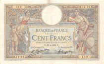 France 100 Francs Luc Olivier Merson - Grands Cartouches - 27-04-1925 Série H.12172-188 - TTB