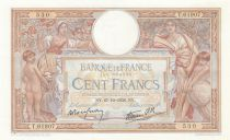 France 100 Francs Luc Olivier Merson - Grands Cartouches - 27-10-1938 Série T.61907