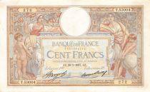 France 100 Francs Luc Olivier Merson - Grands Cartouches - 28-01-1937 Série T.53004 - TTB