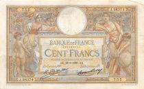 France 100 Francs Luc Olivier Merson - Grands Cartouches - 28-08-1930 Série J.26374 - TTB