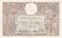 France 100 Francs Luc Olivier Merson - Grands Cartouches - 30-06-1937 - Série M.55160 - TTB