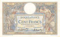 France 100 Francs Luc Olivier Merson - Grands Cartouches - 30-08-1924 Série E.11115 - SUP