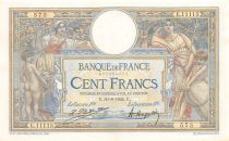 France 100 Francs Luc Olivier Merson - Grands Cartouches - 30-08-1924 Série E.11115 - SUP