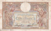 France 100 Francs Luc Olivier Merson - Grands Cartouches - 30-09-1937 - Série C.55653 - TB