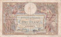 France 100 Francs Luc Olivier Merson - Grands Cartouches - 30-12-1937 - Série R.56725 - TB