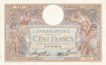 France 100 Francs Luc Olivier Merson - Modifié - 21-10-1937 Série L.55918