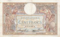 France 100 Francs Luc Olivier Merson - Modifié - 21-10-1937 Série R.55991