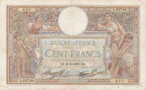 France 100 Francs Luc Olivier Merson - Modifié - 21-10-1937 Série S.55798