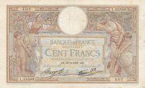 France 100 Francs Luc Olivier Merson - Modifié - 30-09-1937 Série L.55589