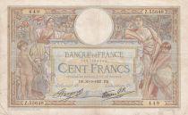 France 100 Francs Luc Olivier Merson - Modifié - 30-09-1937 Série Z.55648
