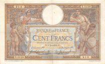 France 100 Francs Luc Olivier Merson - sans LOM - 01-10-1918 Série X.5138 - TTB