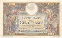 France 100 Francs Luc Olivier Merson - sans LOM - 02-05-1921 Série X.7565 - TB+