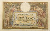 France 100 Francs Luc Olivier Merson - sans LOM - 05-12-1910 Série K.1307 - F+