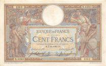 France 100 Francs Luc Olivier Merson - sans LOM - 07-11-1918 Série N.5260 - TTB