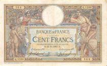 France 100 Francs Luc Olivier Merson - sans LOM - 10-11-1910 Série Q.1266 - TTB