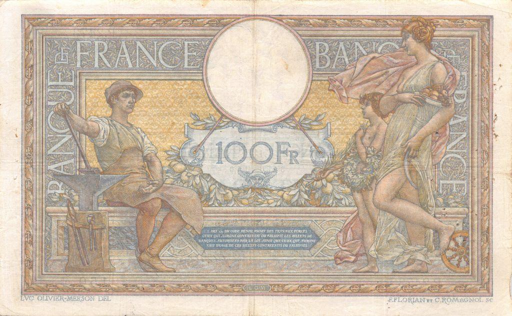 France 100 Francs Luc Olivier Merson - sans LOM - 12-10-1914 Série P.2473 - TTB