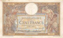 France 100 Francs Luc Olivier Merson - sans LOM - 23-08-1918 Série G.5007 - TTB